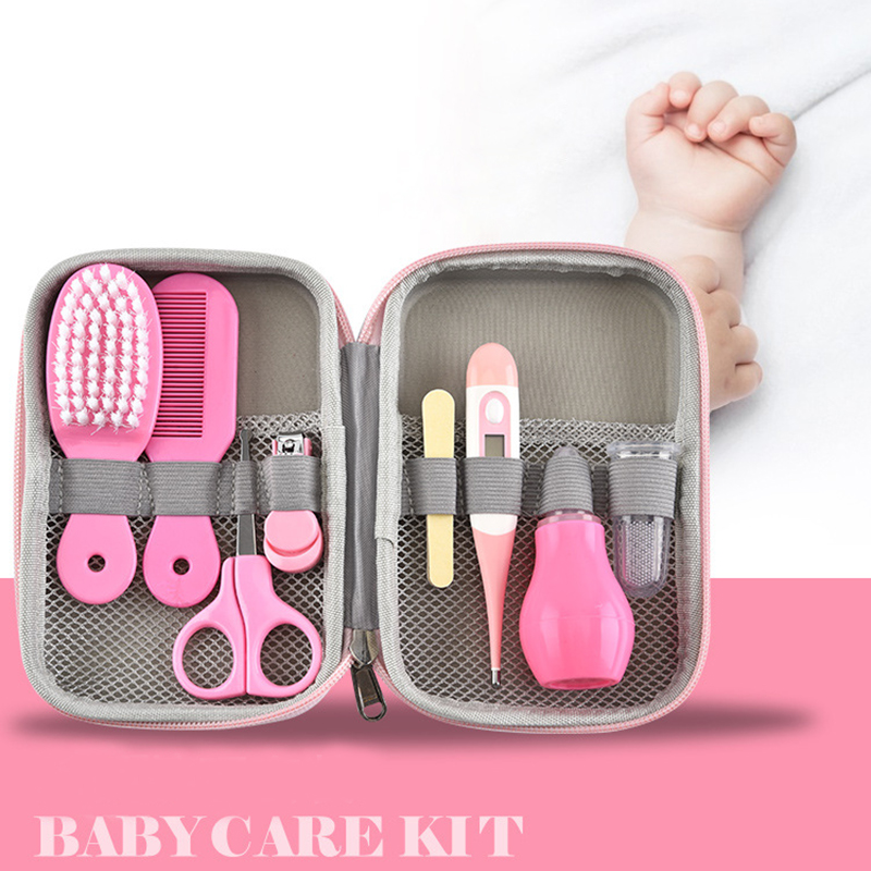 Baby Health Care Kit Newborn Nail Hair Thermometer Grooming Brush Kit Clipper Scissor Multifunction Kid Toiletries Kit Baby Care