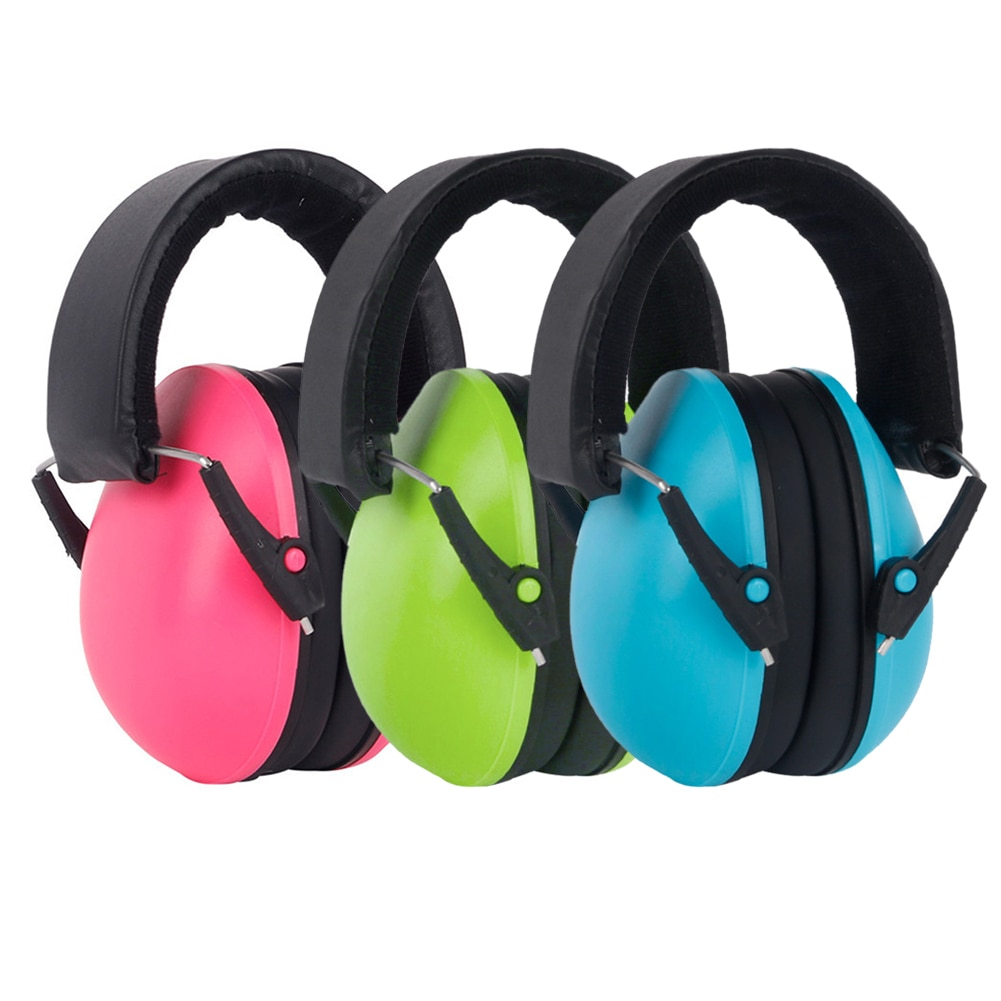 3/1 pcs Kids Ear Muffs Child Baby Earmuffs Hearing Protection Ear Defenders Noise Reduction Safety Yellow Blue/ Pink/ Green
