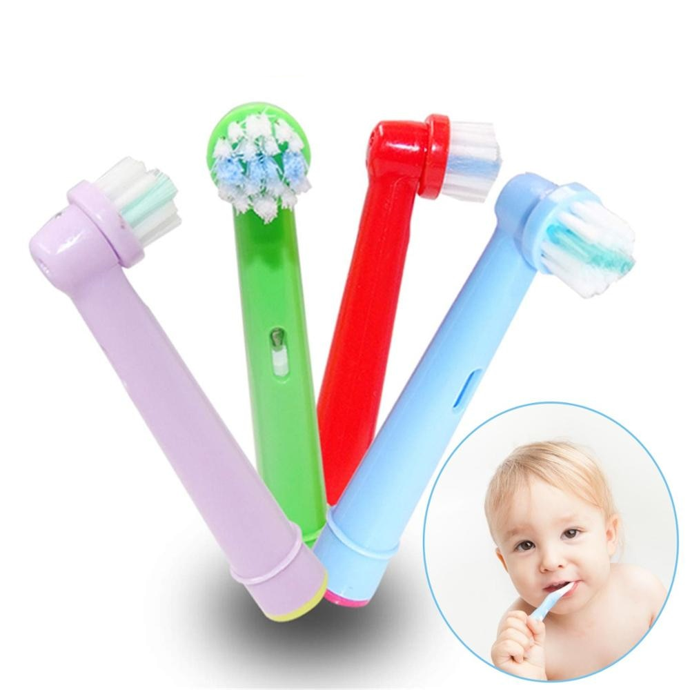 4pcs Replacement Kids Children Tooth Brush Heads For Oral B Electric Toothbrush EB-10A Pro-Health Stages 3D Excel Oral Care