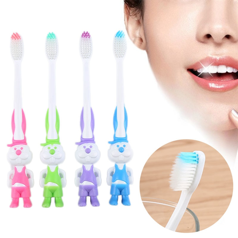1pcs Cartoon Cute Children Toothbrush Safety Soft Hair For Kids Infant Baby Oral Care Cartoon Toothbrushes Chil Oral Clean Tools