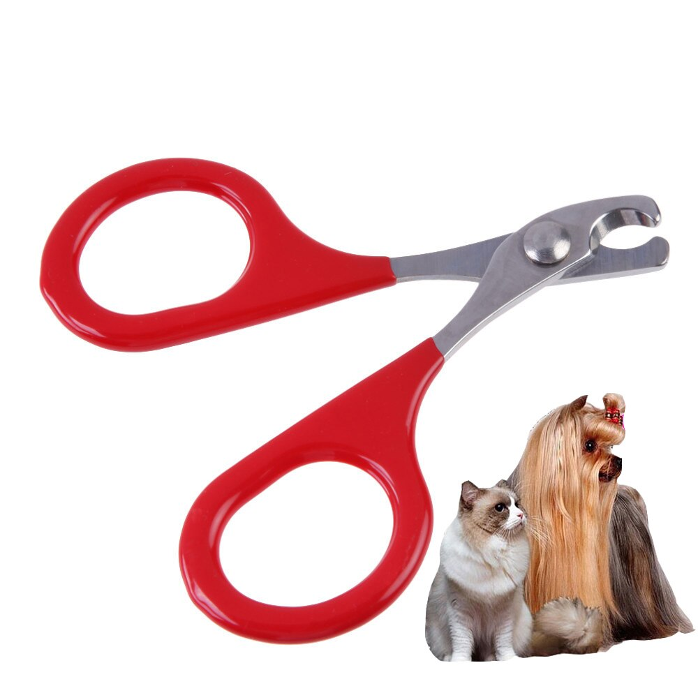 1pcs Red Professional Pet Dog Puppy Nail Clippers Toe Claw Scissors Trimmer Pet Grooming Products For Small Dogs Cats Puppy