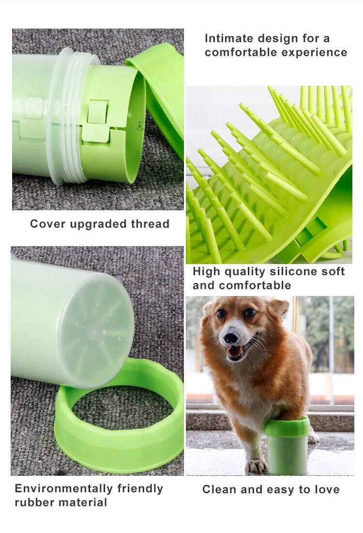 Foot Wash Cup Dog Foot Washing Device Pet Dog Foot Care Cleaning Product High Quality Silicone Pet Foot Washing Device