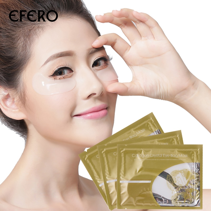 Crystal Collagen Eye Mask Crystal Patches for Eyes Face Skin Care Anti Wrinkle Cosmetics Moisture Dark Circle Remover Eye Patch