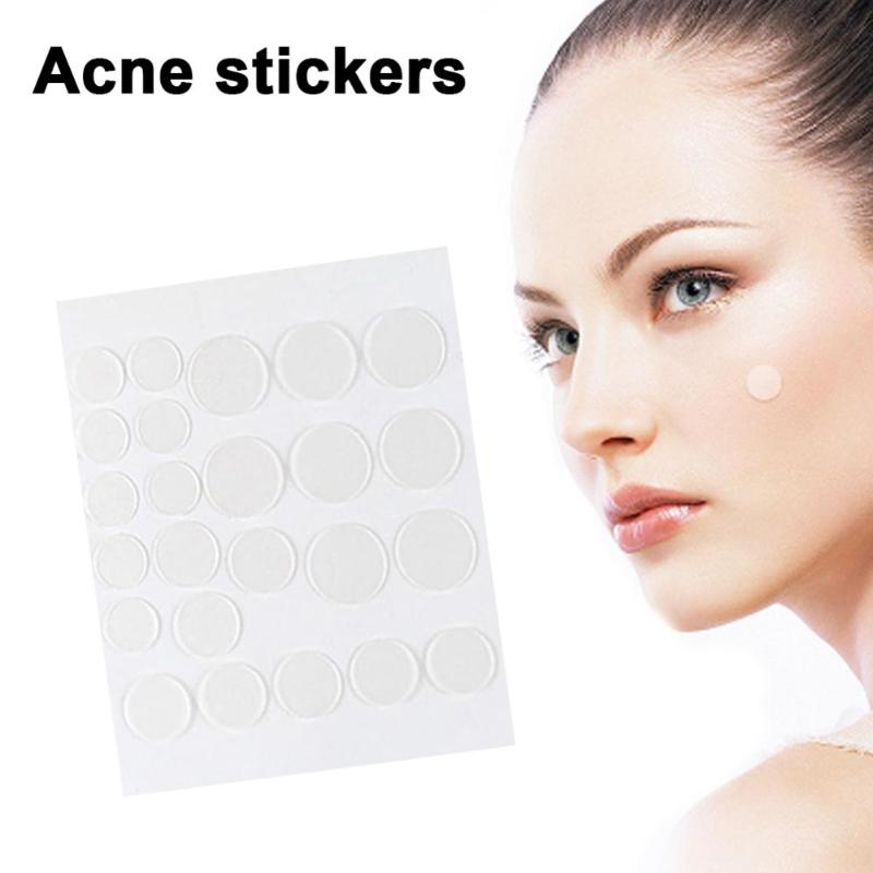 24pcs/set Facial Scar Cover Acne Patches Blackhead Face Pimple Remover Sticker Excellent High Absorption and Water Colloid