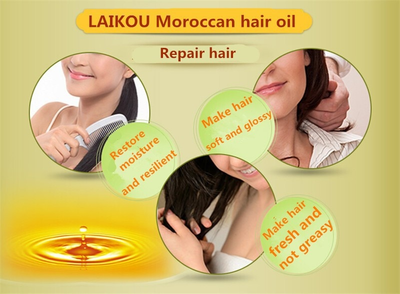 New Morocco Argan Oil Hair Care Keratin 100% PURE Glycerol Nut Oil Hairdressing Hair Mask Essential Moroccan Oil 60ml Product