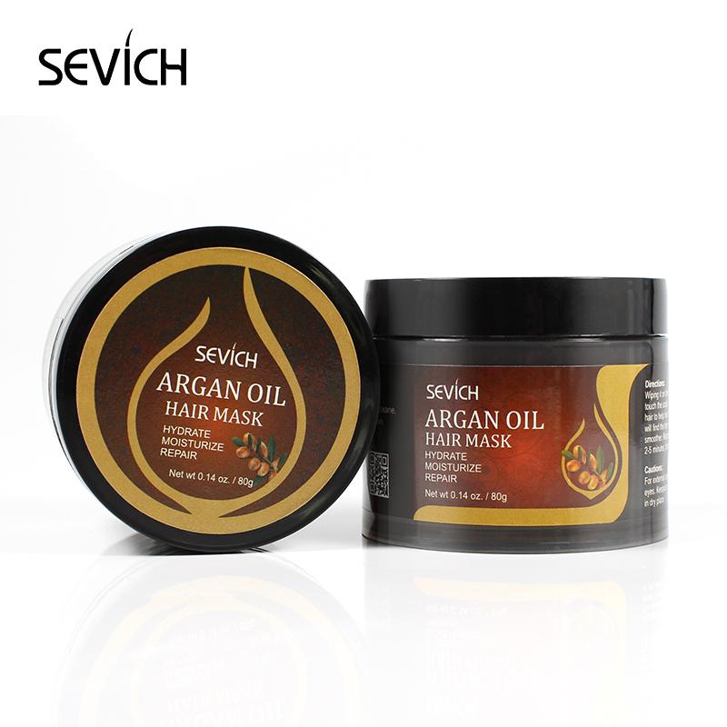 Sevich 80g Hair Mask Argan Oil Hydrate Moisturize Repair Damage Hair Care Product  5 Seconds Nourish & Restore Soft Hair