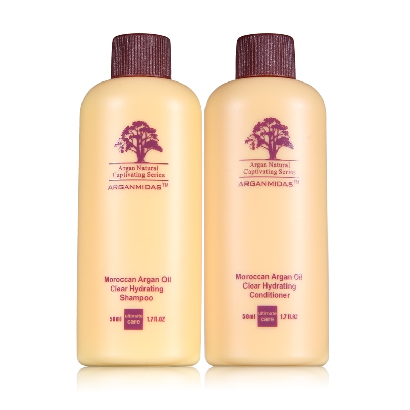 Hot sale !!! 100ml 5pcs A Set Morocco Oil Mini Hair Shampoo and Conditioner Travel Kit Hair Treatment Care Free Shipping