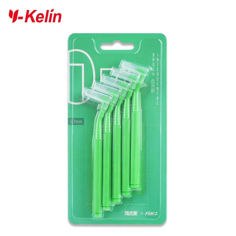 Y-Kelin 10pcs 0.6-1.0 mm Adults Interdental Brush Clean Between Teeth Floss Toothpick Oral Care Tool Dental   Orthodontic