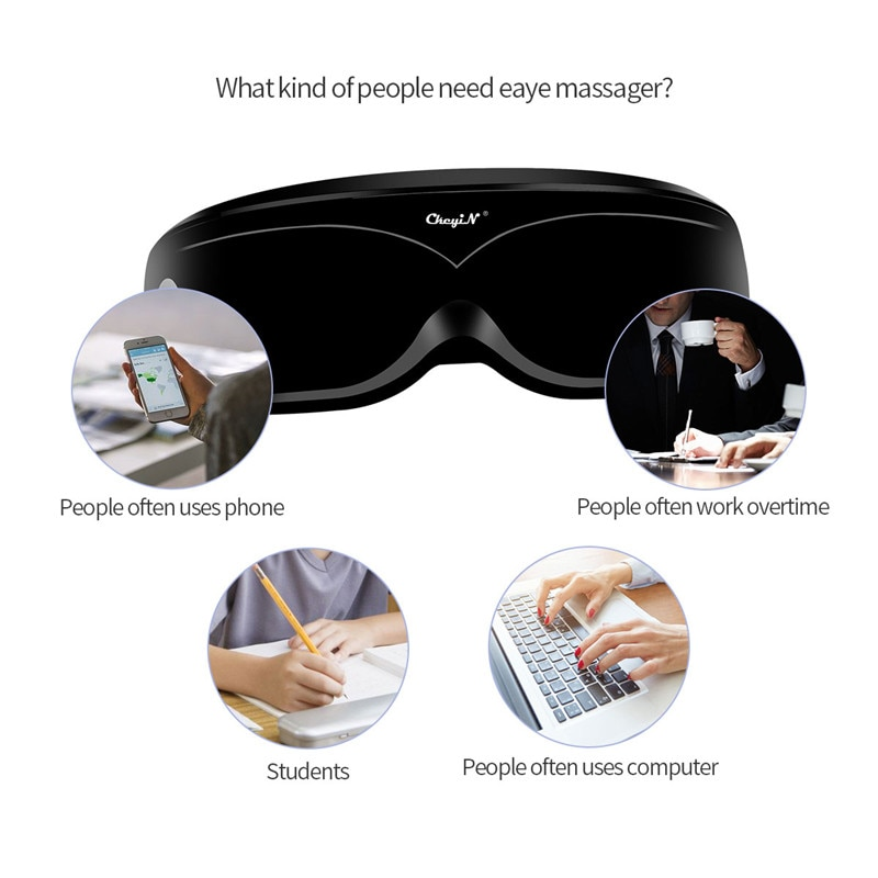Eye Massager Vibration Magnetic Acupuncture Therapy Massage Eye Care Fatigue Stress Relief Goggles Improve Protect Eyesight