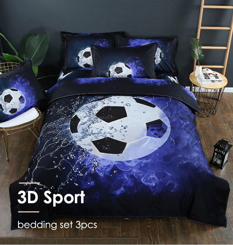 Bedding Sets 3D Football Sport Series Duvet Cover Soft Pillowcases Basketball Queen King size Boy Gift bed sets