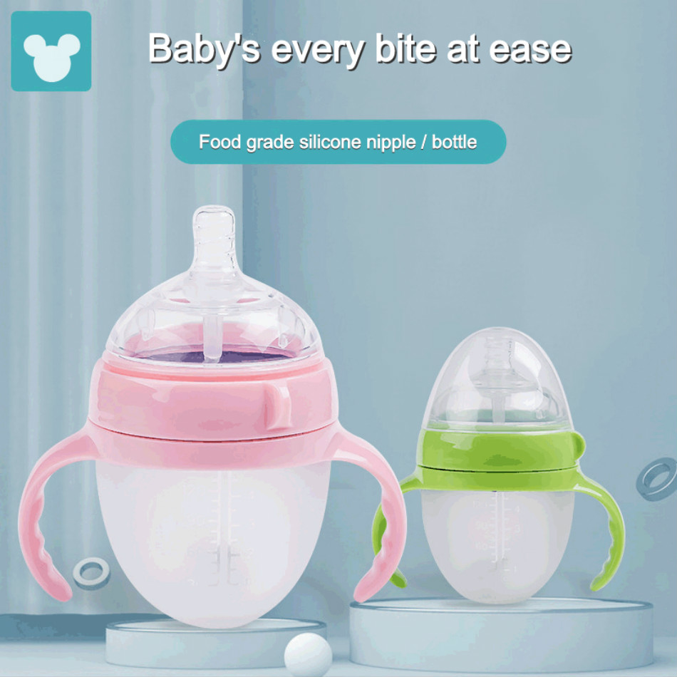 250ML baby silicone bottle newborn feeding water bottle milk jug cup child care products