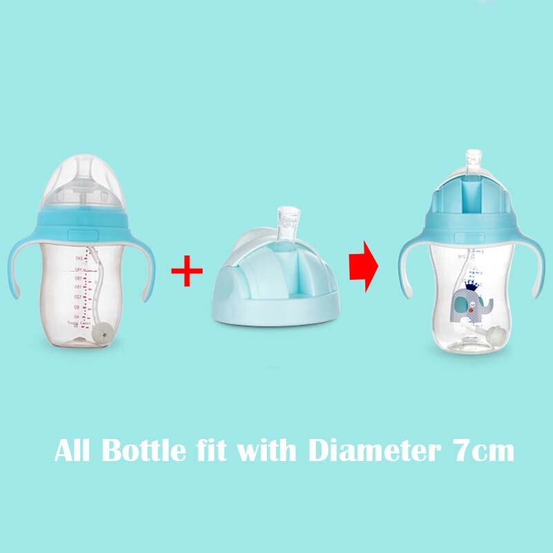 Baby bottle cover Silicone Cup caps accessories Kids Learn Feeding Drinking Water Straw replace sippy Training for Comotomo