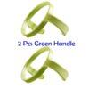 2Pcs Green Handle