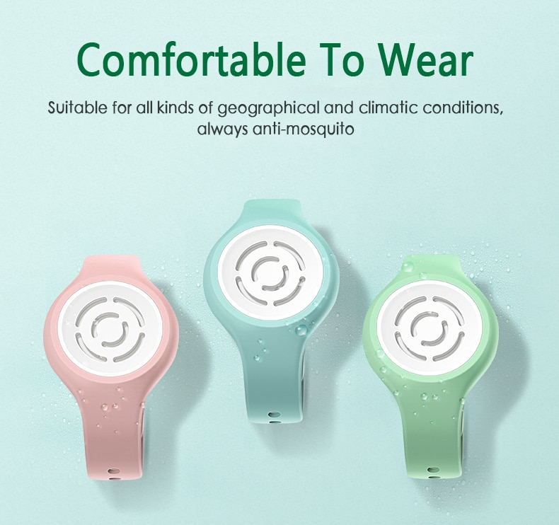 Summer Plant Essential Oil Mosquito Repellent Wristband Child Pregnant Women Anti-Mosquito Repellent Bracelet With Buckle