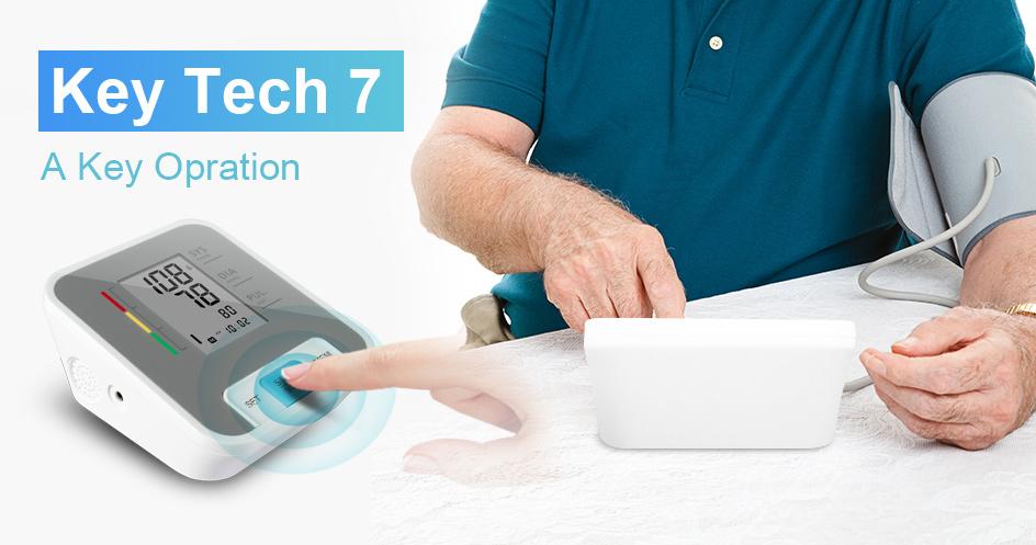 Cigii Home health care Pulse measurement tool Portable LCD digital Upper Arm Blood Pressure Monitor 1 Pcs Tonometer