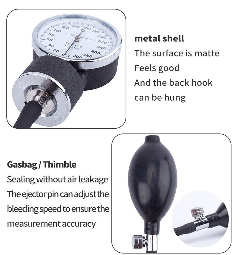Manual Blood Pressure Monitor Diastolic Sphygmomanometer Medical Doctor Stethoscope Sphygmomanometer Cuff Home Health Monitor