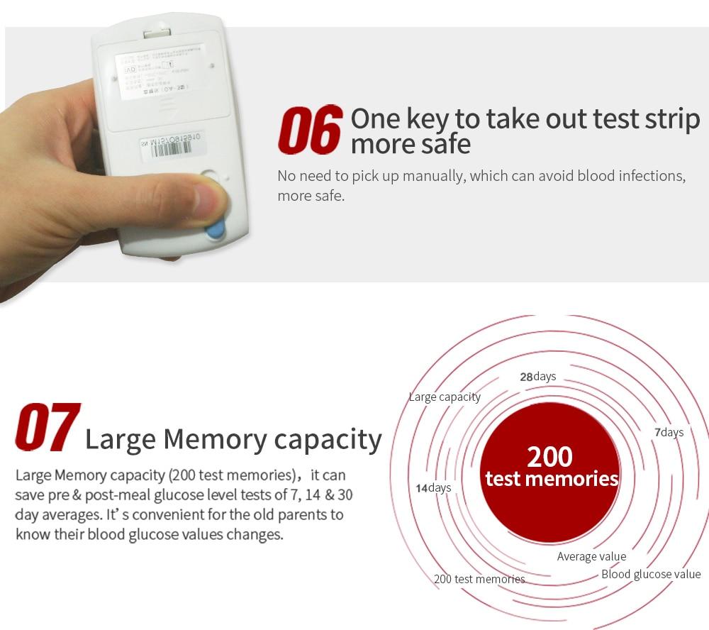 Sinocare GA-3 Glucometer Diabetes Blood Glucose Meter & Test Strips &Lancets Glm Medical Blood Sugar Meter Diabetes Tester