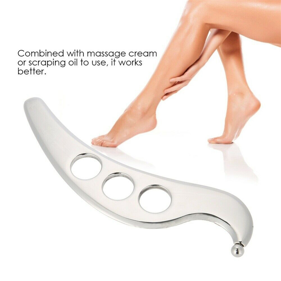 Gua Sha Tool Stainless Steel Manual Scraping Massager Physical Therapy Skin Care Tool for Myofascial Release Tissue Mobilization