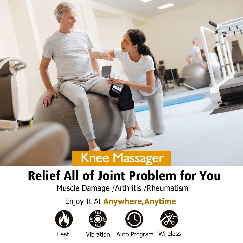 Electric Knee Massage Vibrador Heating Far Infrared Joint Back Massager Shoulder Elbow Brace Support Knee Treatment massageador