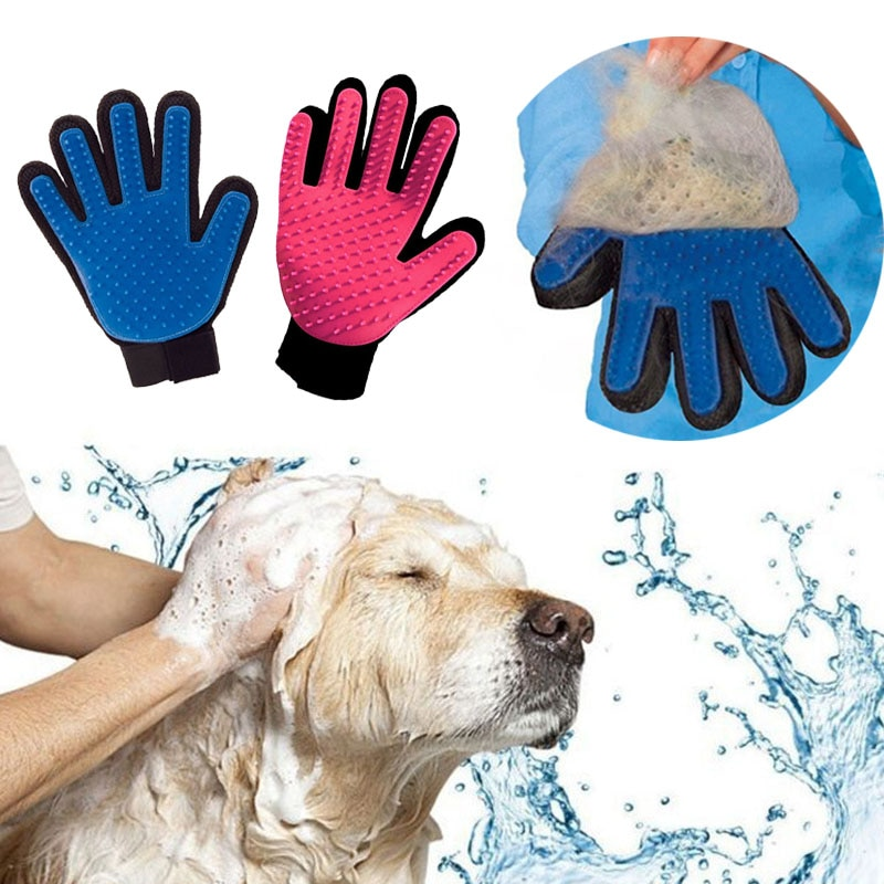 Pet Grooming Glove for Cats Brush Comb Cat Hackle Pet Deshedding Brush Glove for Animal Dog Pet Hair GloveS for Cat Dog Grooming
