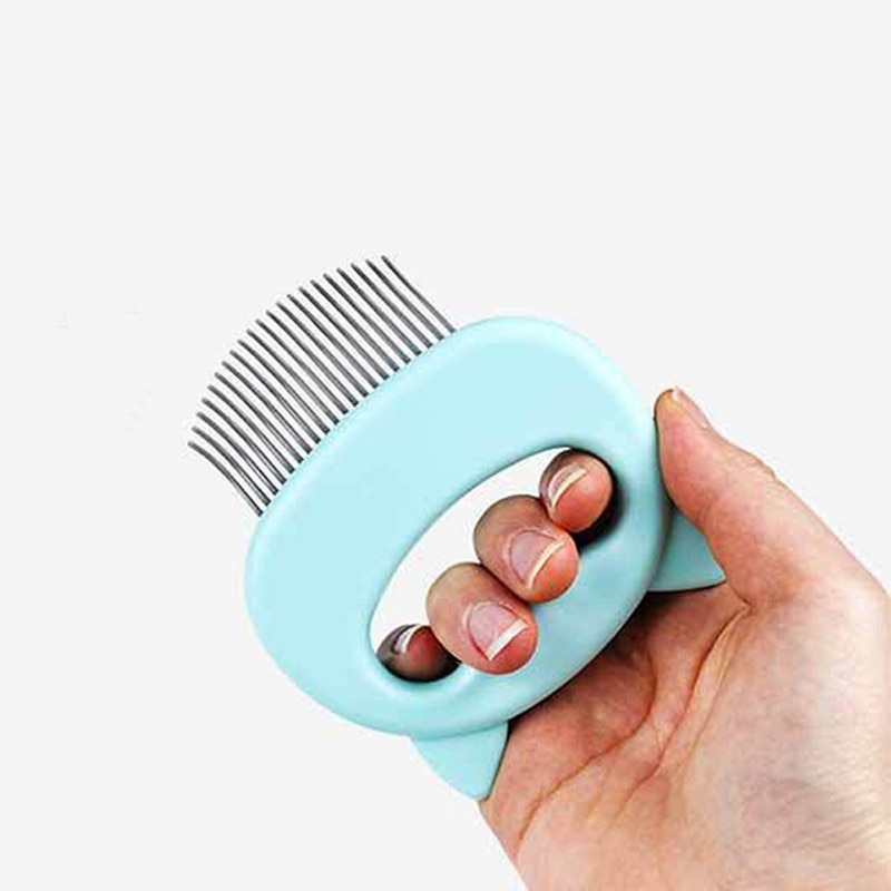 Pet Animal Hand-holding Care Comb Protect Comb for Cat Dog Pet ABS Soft Brush Comfort Hair Grooming Comb
