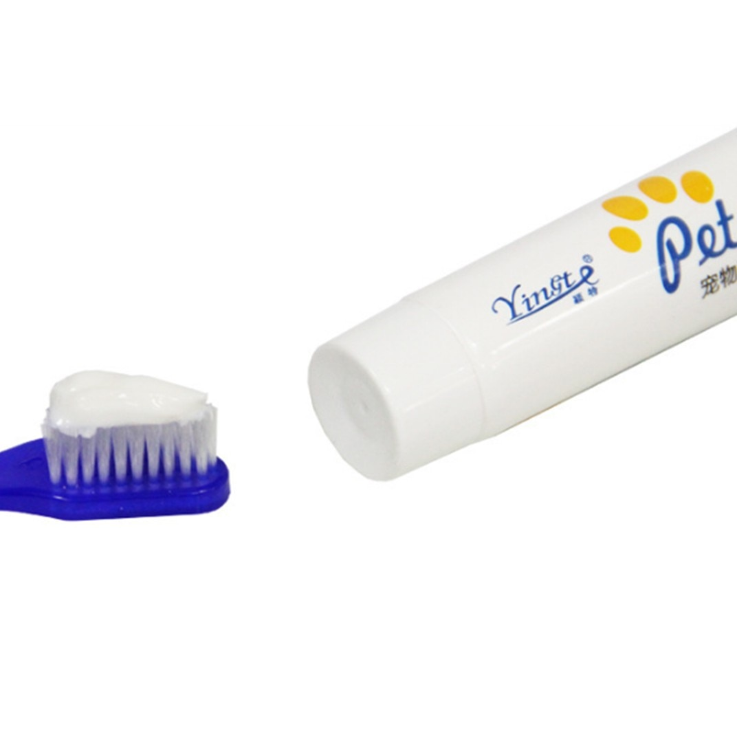 Super Soft Pet Finger Toothbrush Toothpaste Cleaning Supplies Double Head Protection Dog Cat Teeth Care Breathing Tartar Tool