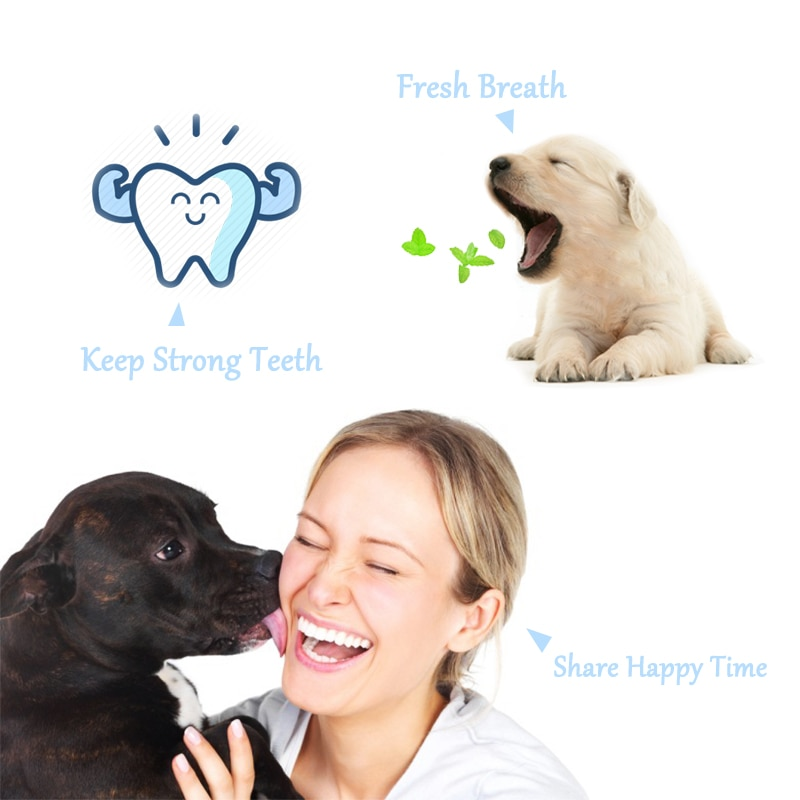 Vanilla/Beef Taste Pet Toothpaste Set Pet Toothbrush Single/double finger Dog Oral Care Cats and Dogs Toothbrush Toothpaste Set