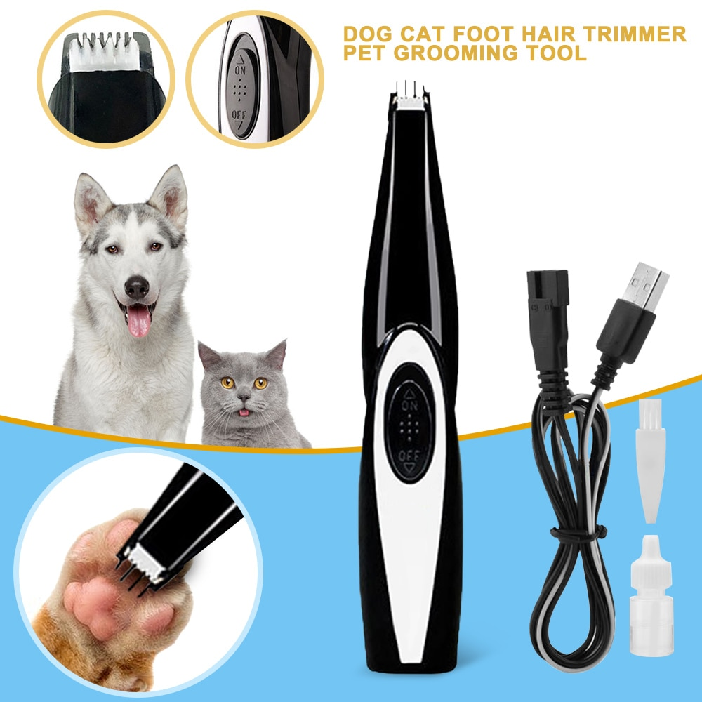 Pet Dog Cat Nail Hair Trimmer Grinder Grooming Tool Electrical Shearing Cutter Machine USB Charge Pet Haircut Paw Shaver Clipper
