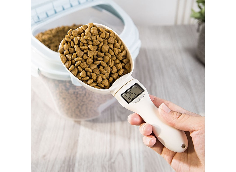 800g/1g Pet Food Scale Cup For Dog Cat Feeding Bowl Spoon Kitchen Portable Pet Scoop For Measuring Food With Led Display