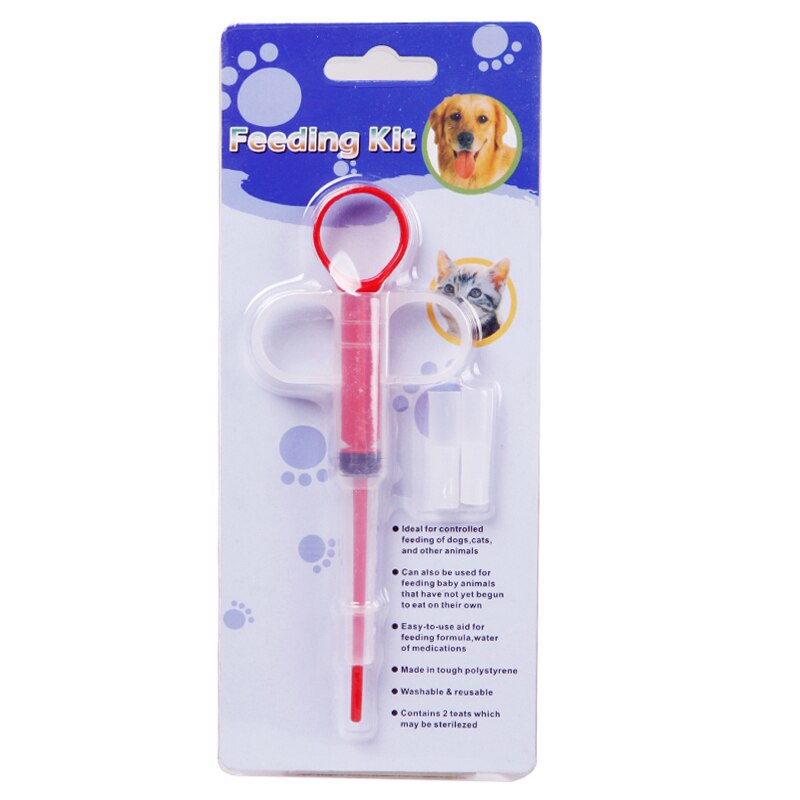 Pet Dog Cat Puppy Treats Given Medicine Control Rods Feeding Kit Pills Dispenser Home Pet Food Feeder Container Supplies 1Pc