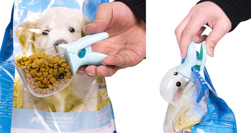 1Pc Cute Cartoon Pet Food Scoop Plastic Duckbilled Multi-Purpose Cat Dog Food Spoon Pet Feeder Feeding Supplies Blue Pink