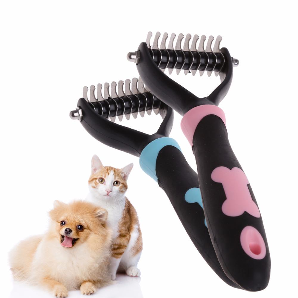 Pet Dog Cat Hair Brush remover Handle Shedding  Fur Grooming Trimmer Comb Pet Slicker Brush  スリッカーブラシ Dog Accessories