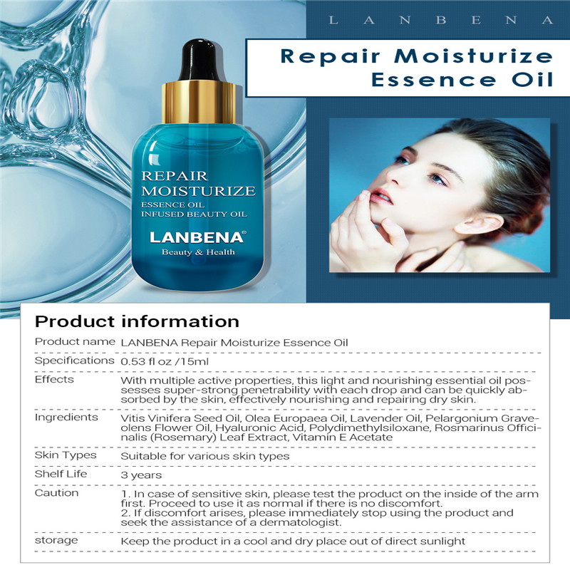 2019Repair Essence Oil skincare supplement water Moisturize Hyaluronic Acid Lavender Oil Olive 15ml Rejuvenation beauty wrinkle