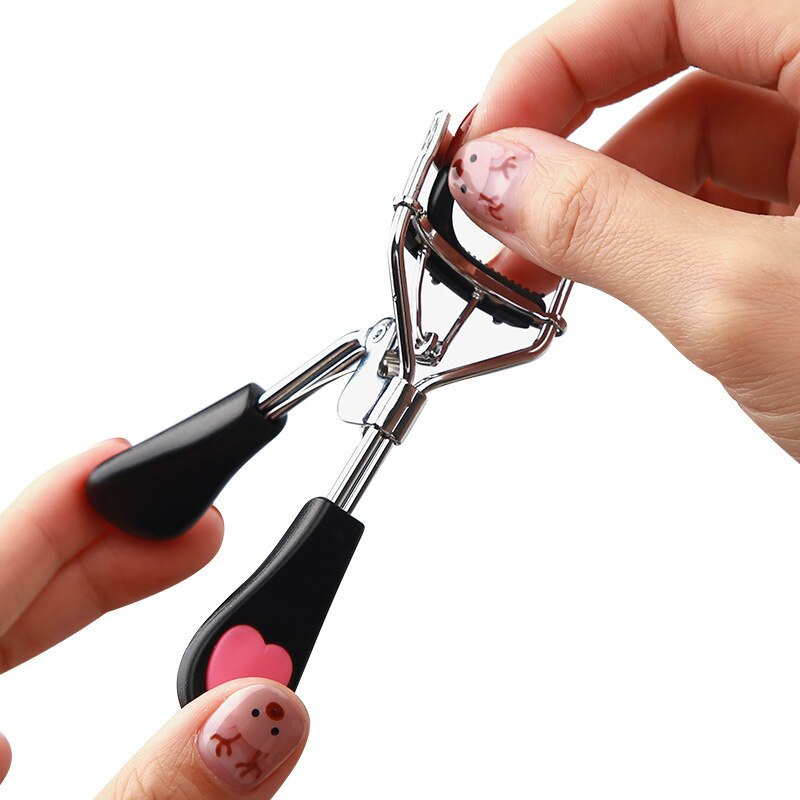 1pcs Women Lady Professional Eyelash Curler Supplementer Clip Nature Curl Eye Lash Eyelash Tweezers Beauty Makeup Tools