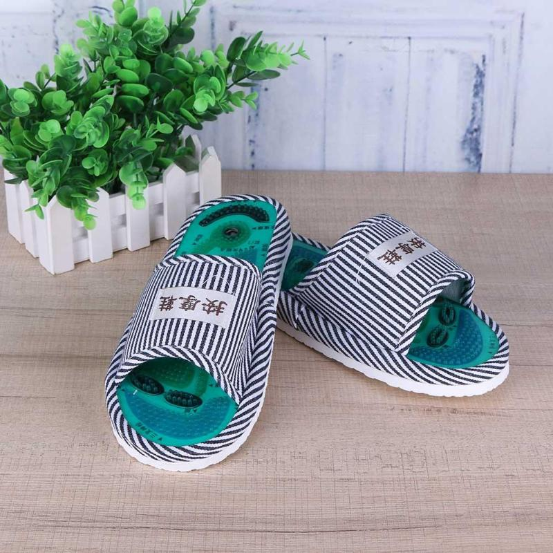 Acupuncture Foot Massage Slippers Health Shoe Reflexology Magnetic Sandals Acupuncture Healthy Feet Care Massager Magnet Shoes