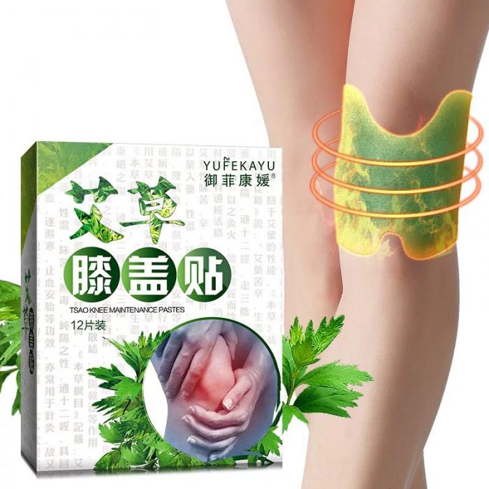 Good Healthy 12pcs Knee Pads Wormwood Extract Health Care Detox Relax Patch