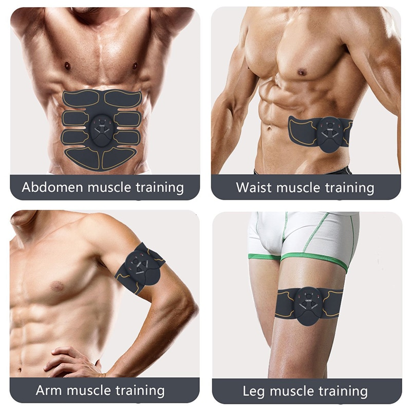 Abdominal Muscle Stimulator Hip Trainer EMS Massage ABS Muscles Electrostimulator Toner Body Exercise Fitness Equipment Home Gym