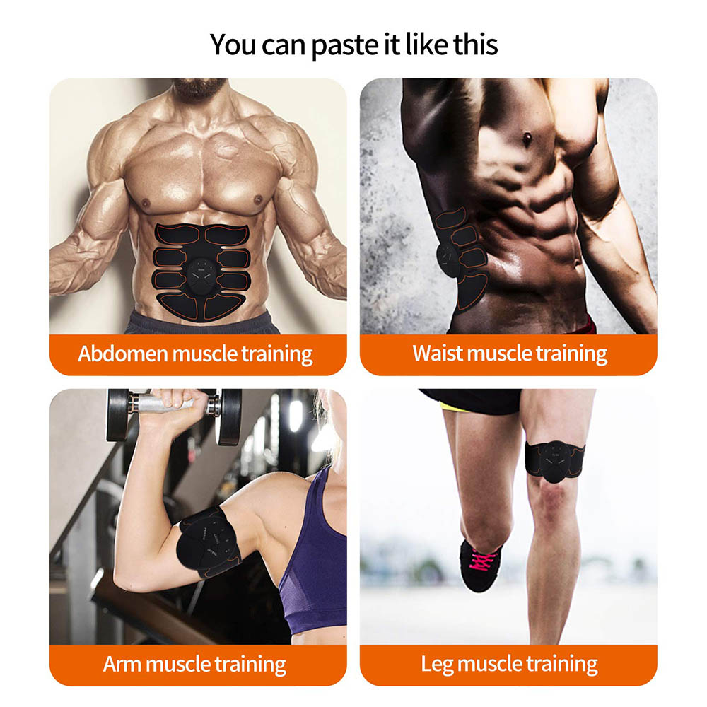 Abdominal Muscle Trainer Fitness EMS Sport Press Stimulator Gym Equipment Training Apparatus Home Electric Exercises Machine