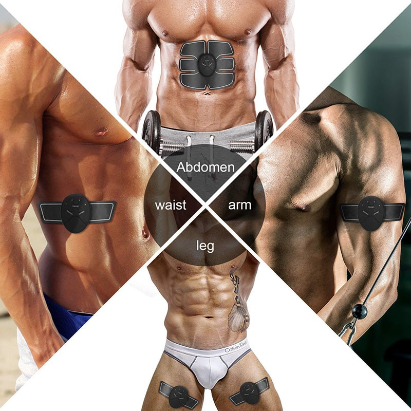EMS Massager Abdominal Muscle Stimulator Trainer Electric ABS Abdominal Hip Trainer Fitness Body Slimming Massager Gym Equipment