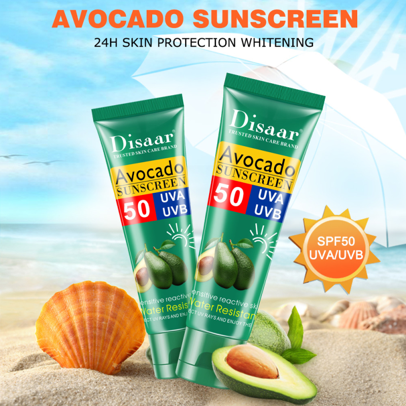Disaar Facial Body Sunscreen Whitening Sun Cream Sunblock Skin Protective Cream Anti-Aging Oil-control Moisturizing SPF 50 Face