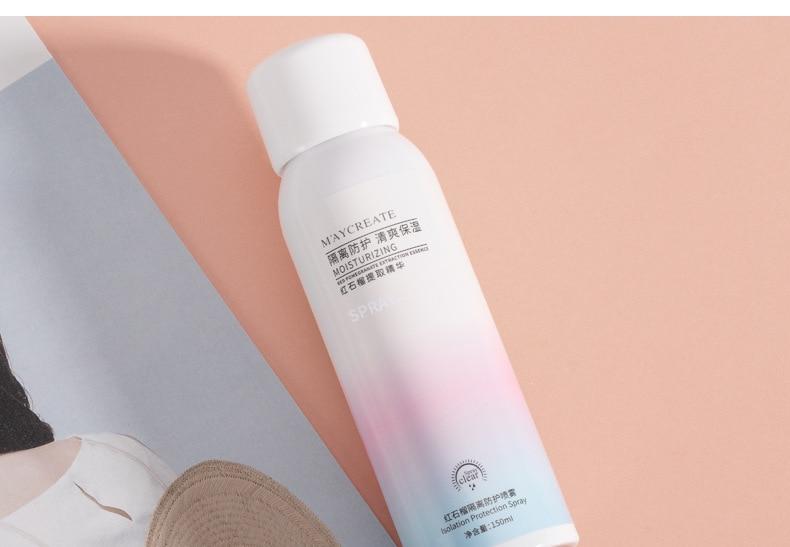 New Whitening Red Pomegranate Essence Sunscreen Spray Waterproof Body Sunscreen Cream Neck Moisturizing Hydrating Anti UV