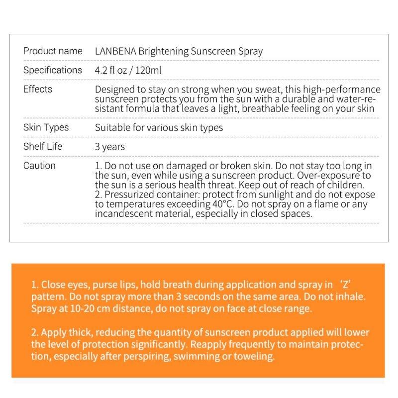 SPF 50pa+++ Anti-uv Oil-control Facial Body Sunscreen Whitening Sunscreen Spray Sunblock Lasting Protective Cream