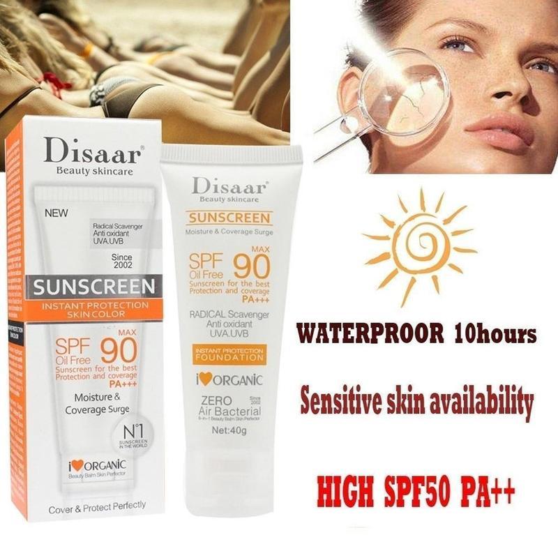 Disaar SPF 90 Facial Body Sunscreen Whitening Sun Cream Sunblock Skin Protectiion Cream Anti-Aging Oil-control Moisturizing