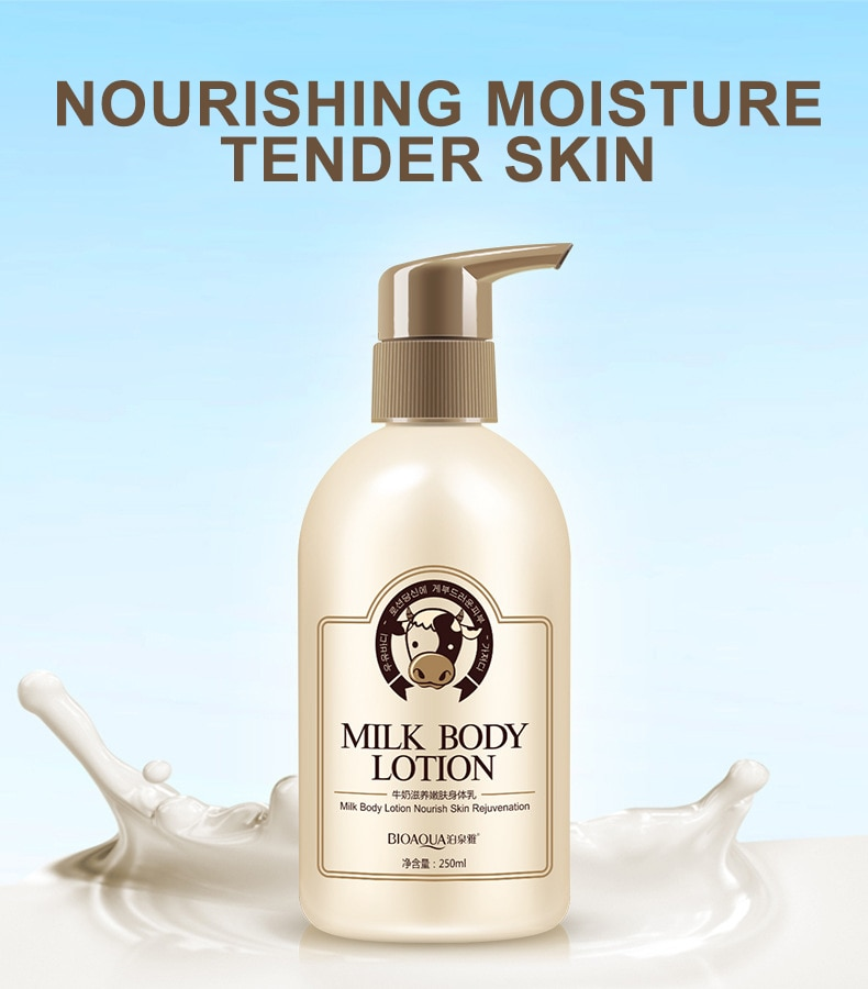 Bioaqua Milk Whitening Moisturizing Body Lotion Remove Melanin Anti-wrinkle Nourish Body Cream Body Care 250ml