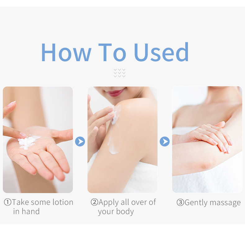 CCPT Rose fragrance body lotion moist skin improve skin dry and rough care body lotion