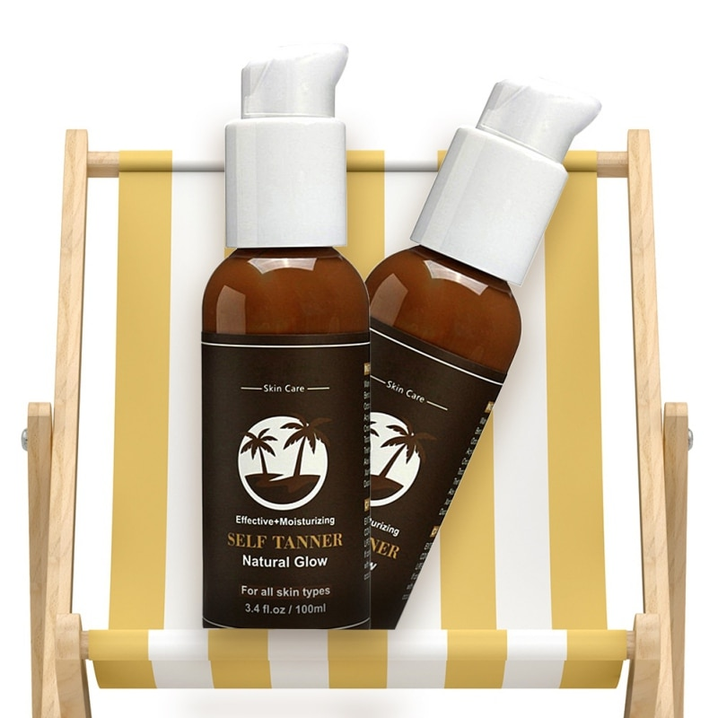 Powerful Body Self Tanners Beauty Black Mousse Summer Body Organic Ingredients Sunless Tanning Lotion