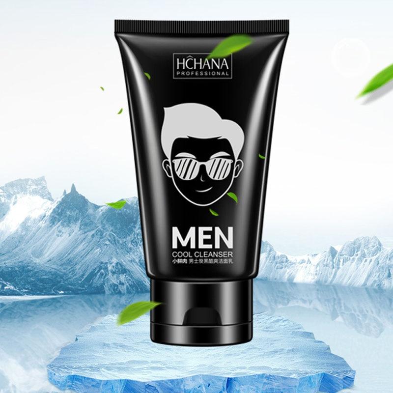 HANCHAN Men Facial Cleanser Face Wash Carbon Nourishing Cleanser Moisturizing Whitening Anti-Spots Marks Deep Clean