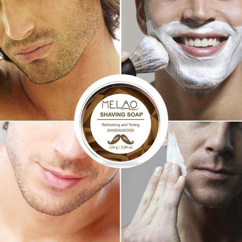 110g Professional Shaving Cream Anti-Allergy Shaving Soap Foaming Moisturizing Razor Barbering Men Shaving Soap Cream