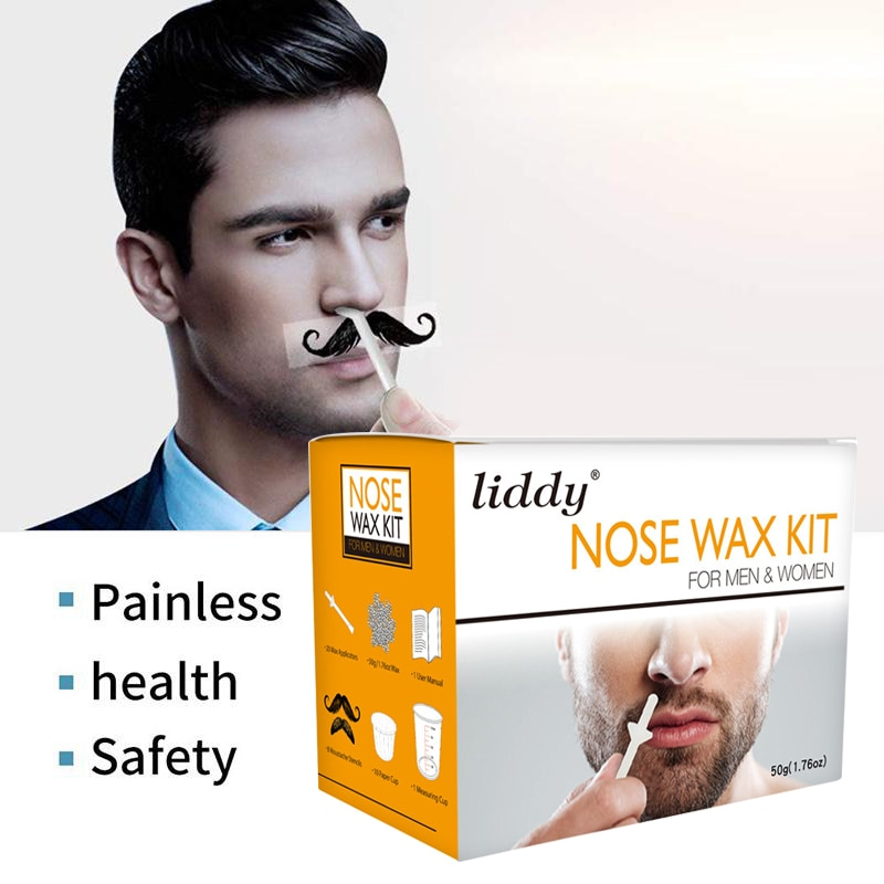 Women Men Painless Nose Wax Kit Nose Hair Removal Paper-Free Cleaning Wax Beans Beauty Cosmetic Tool Set TSLM2