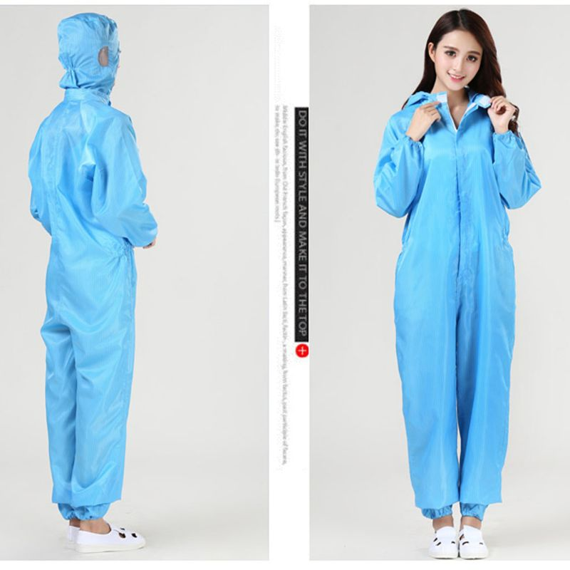 Protective Suit Coveralls With Cap Full Body Protection, polyester Nonwoven Labor Insurance Safety Dust-proof and anti-static